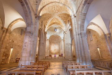 Jerusalem - The gothic nave of St. Anne church