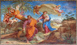 Rome - Flight to Egypt fresco in Basilica di Sant Agostino - 81562980