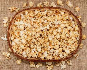 popcorn in the basket