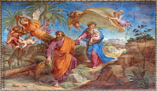 Rome - Flight to Egypt fresco in Basilica di Sant Agostino - 81562980