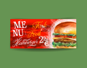 fresh hamburger logo design template. fast food or restaurant