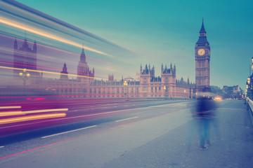 London landmark Big Ben, filtered effect