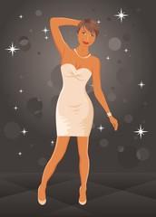 cute dancing girl in dress