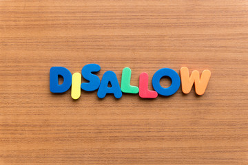 disallow