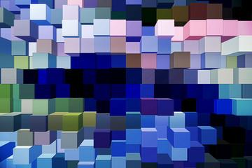 Foglio estruso di blocchi quadrati multicolore