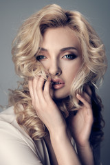 Portrait of a beautiful blonde.
