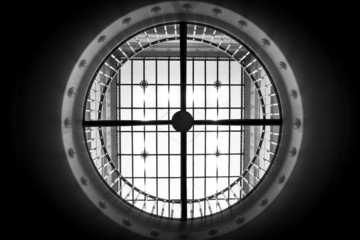 Black and white circle dome