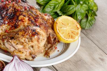 Baked tasty hot chicken