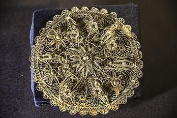 Antique jewelry, silver, filigree