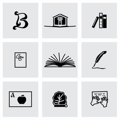 Vector Book icon set