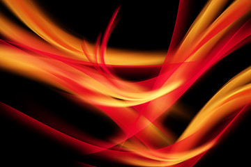 Fire Abstract Waves