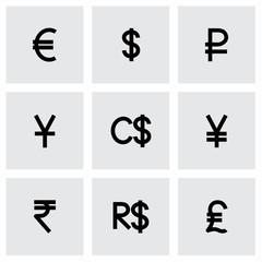 Vector Currency symbol icon set