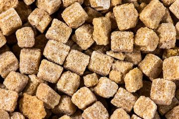 Brown sugar cubes background,  texture