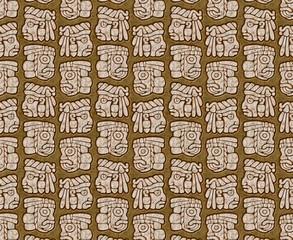 Mayan glyphs pattern