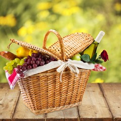 Picnic Basket. Romantic picnic