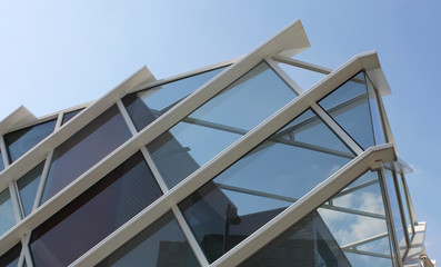 Glass frame structure