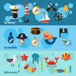 Nautical Banners Set - 81567541