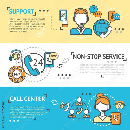 Call Center Banner Set - 81567569
