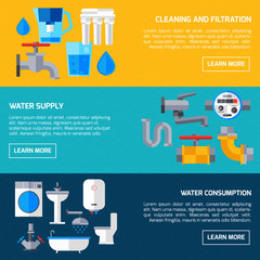 Water Supply Banners