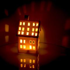 Casetta illuminata