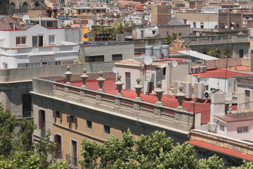 Roofs of Barcelona, Spain
