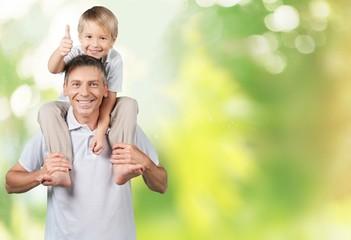 Grandparent. Grandfather with Grandchild