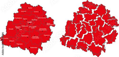 Mapa województwa łódzkiego