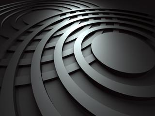 Dark Abstract Round Design Background