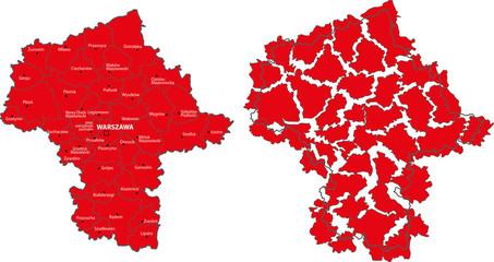 Mazowieckie voivodship map