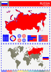 vector Russia illustration country nation national culture conce