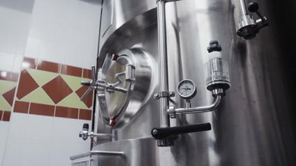 modern German brewery laboratory production with sensor