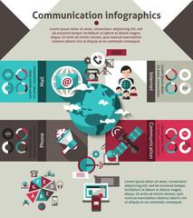 Communication Infographics Set