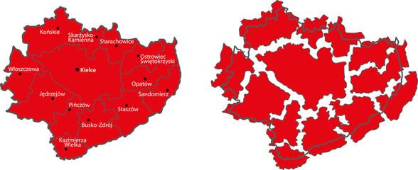 map Swiętokrzyskie Province
