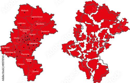 Mapa województwa śląskiego
