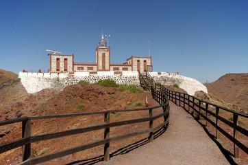 View of Entallada Lighthouse, Fuerteventura, Spain