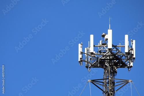 Leinwanddruck Bild Close up of a cell tower