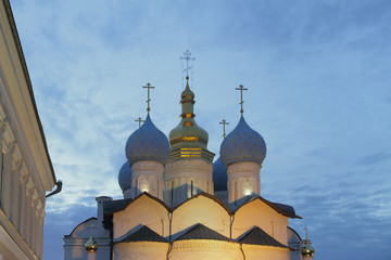 Domes of Cathedral of Annunciation. Kazan, Tatarstan