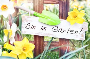 Bin im Garten
