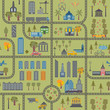 City map seamless pattern - 81571723
