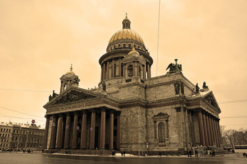 The famous St. Isaac cathedral
