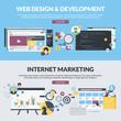 Zdjęcia na płótnie, fototapety, obrazy : Flat design style concepts for web design, internet marketing
