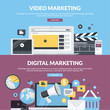 Flat design style concepts for internet marketing