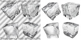 Transparent and opaque gray ice cubes poster