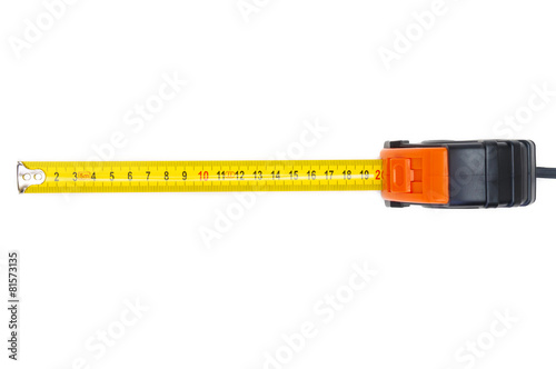 Poster Tape measure on white background