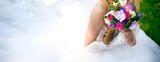 bride and wedding bouquet - 81574123