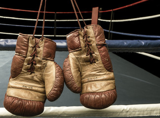Retro boxing gloves