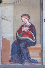 Madonna annunciata; affresco, chiesa S. Francesco, Pistoia