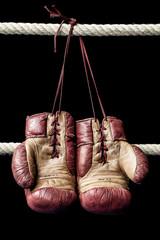 Retro boxing gloves