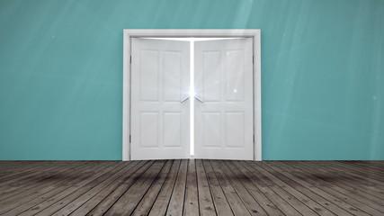Door opening to light