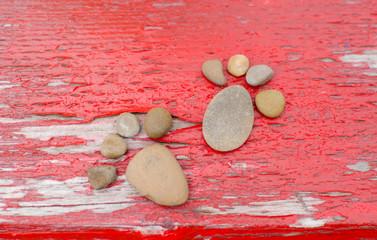 feet of pebbles